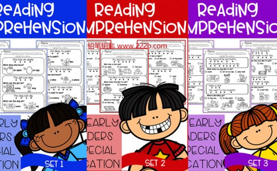 《Reading comprehension for early reader》六册自然拼读练习册 百度云网盘下载
